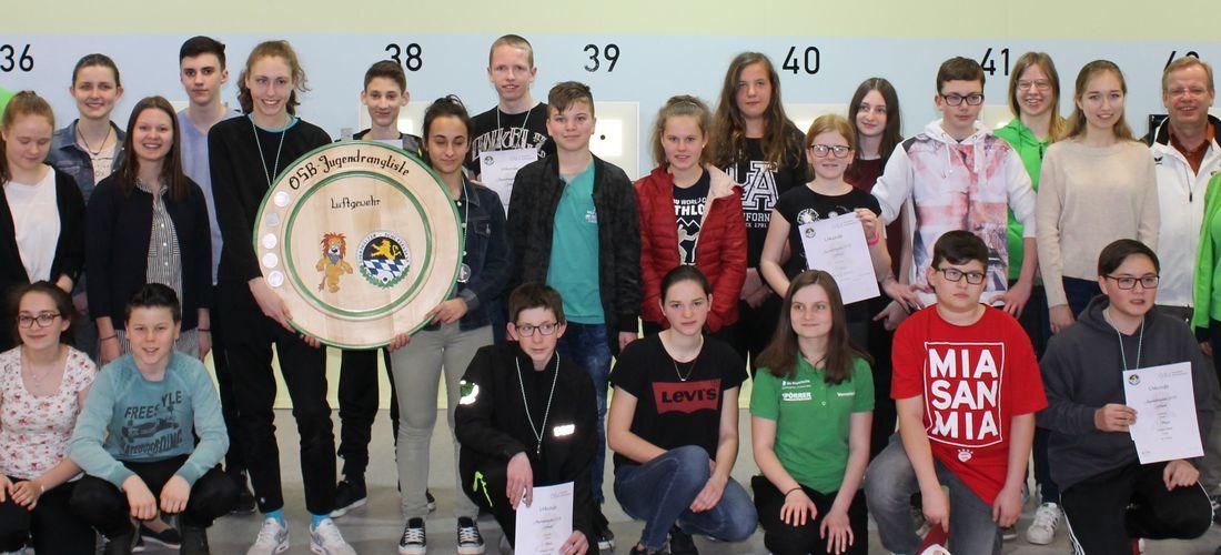 OSB-Jugendrangliste 2018 Luftgewehr + Luftpistole